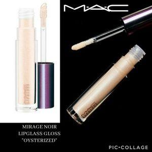 👄MAC Mirage Noir Lipglass gloss in Oysterized NIB